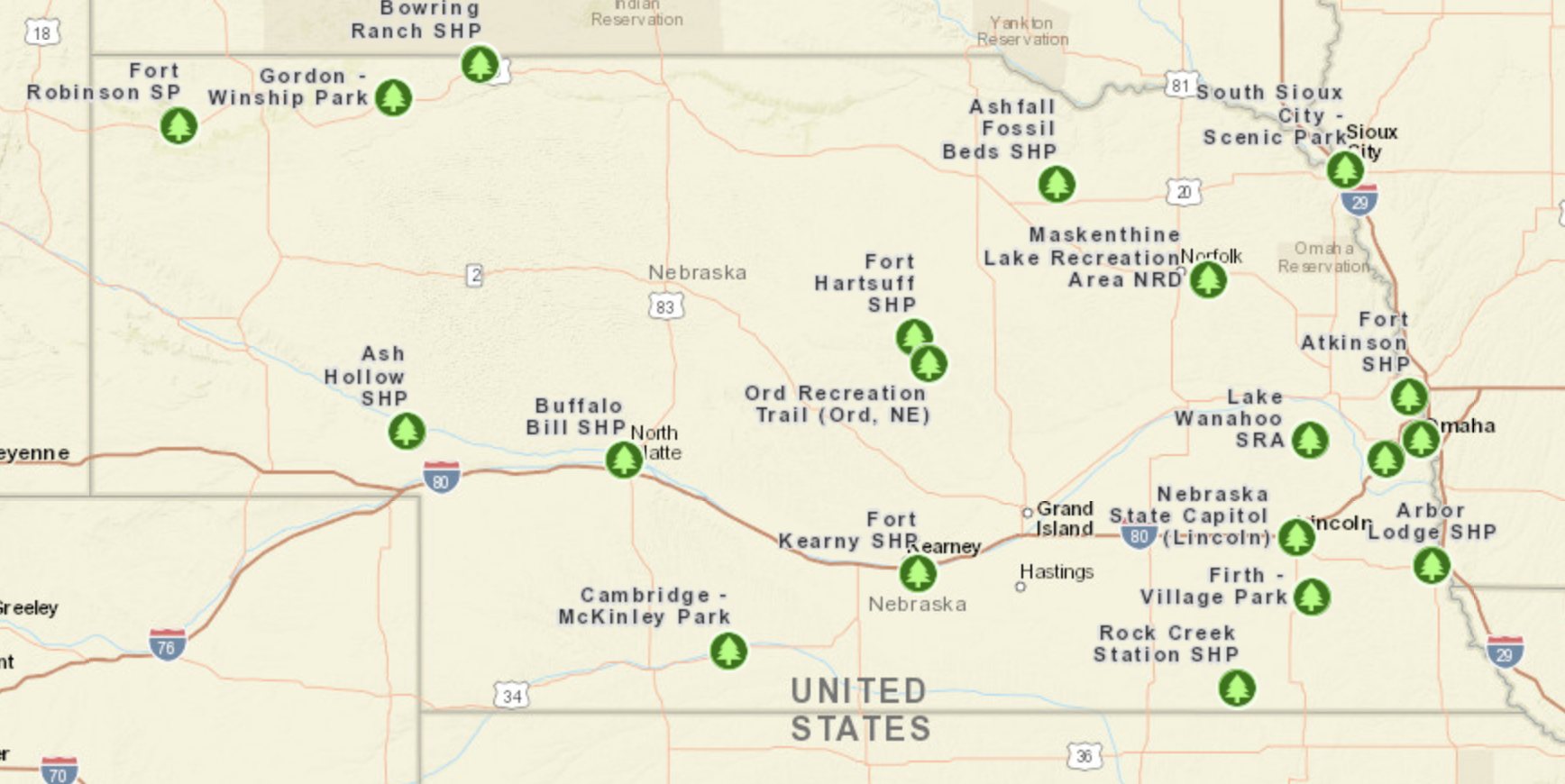 2017 Great Parks Pursuit Map